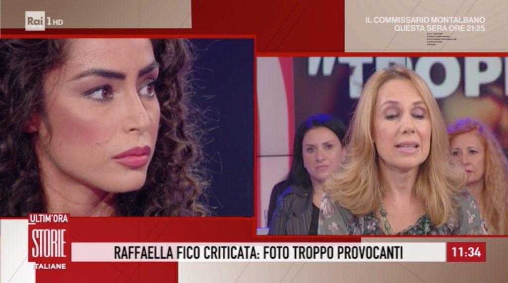 raffaella fico critiche corpo moige storie italiane