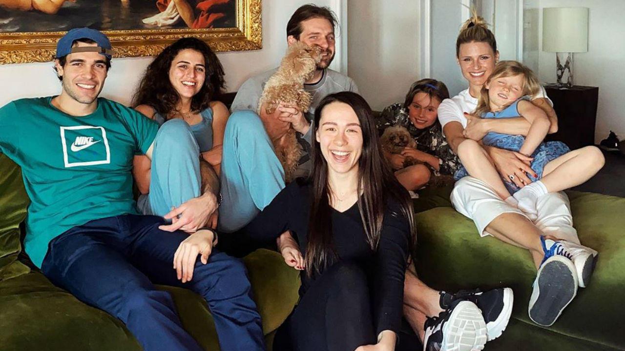 michelle hunziker tomaso trussardi cane famiglia levriero