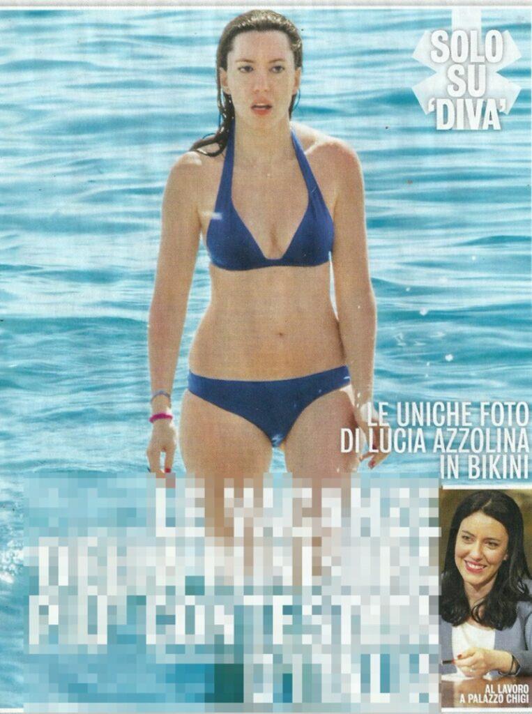 ministro lucia azzolina bikini fisico mare foto
