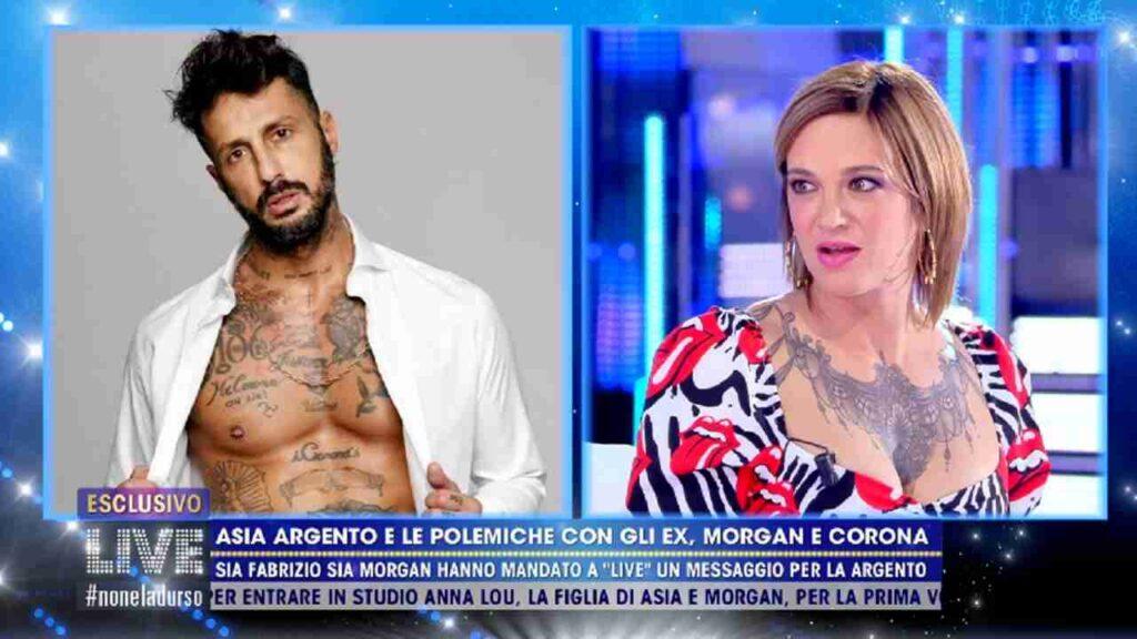 """Asia Argento, i dettagli intimi con Fabrizio Corona: """"Sopra, sotto… Ecco cosa mi ha fatto"""""""