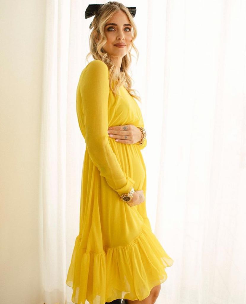 chiara ferragni incinta foto pancione gravidanza