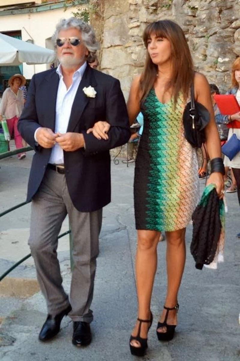 beppe grillo età altezza peso prima seconda moglie parvin tadjik figli